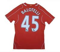 Liverpool 2014-15 Authentic Home Shirt Balotelli #45 (Excellent) M Soccer Jersey