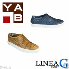 YAB leather slip on sneakers S/S 2016 slip on in pelle intrecciata P/E 2016