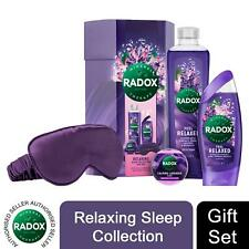Radox Feel Relaxing Sleep Collection 4pcs Gift Set For Her with Eye Mask