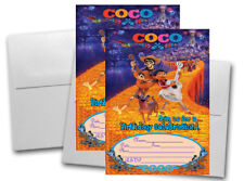 12 COCO Birthday Invitation Cards (12 White Envelops Included) #1