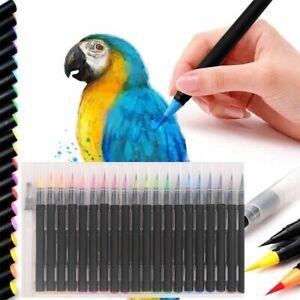 Aquarellstifte 20 Farben, einem befüllbaren Wassertankpinsel für Bullet Journal