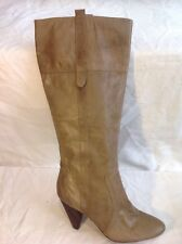 Warehouse Brown Knee High Leather Boots Size 40