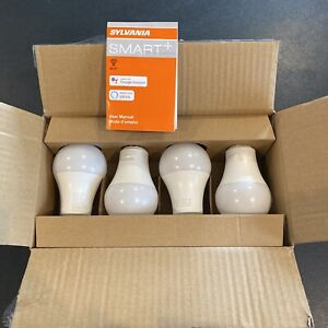 SYLVANIA Smart+ WiFi Full Color Dimmable A19 LED Light Bulb 4pack NEW