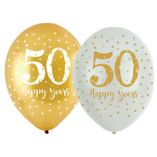 GOLDEN 50th Wedding ANNIVERSARY Party Banners, Balloons & Decorations