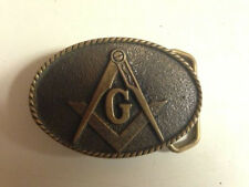 Masonic Belt buckle Solid Brass 1978