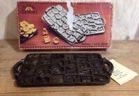 Vtg 1985 Classic Gourmet Cast Iron Alphabet Cookie Mold Baking Pan John Wright