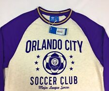 Adidas Originals MLS Orlando City Soccer Club Shirt Mens Large Long Sleeve