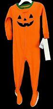 Carters Babys Footed Halloween Pajamas Orange Jack-o-Lantern Pumpkin 18 Months