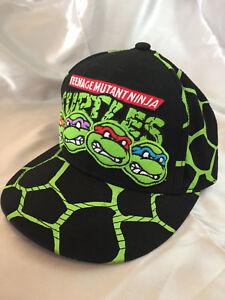 RARE VTG Nickelodeon TMNT Teenage Mutant Ninja Turtles Shell Snapback Cap