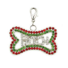 Holiday Bling CHARM Bitch Pet Jewelry Collar Dog Tag