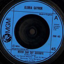 """Gloria Gaynor Nunca Puedo Decir Adiós 7"""" WS EX/Reino Unido MGM 2006 463"""