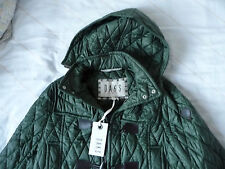 DAKS Dark Green padded coat with hood size 40