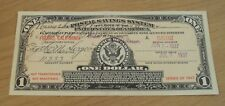 """1917 Series """"POSTAL SAVINGS SYSTEM"""" One DOLLAR Certificate 1937 ISSUE~Fresno CA"""