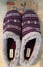 Dearfoams Knit Clog Memory Foam Slippers Women's XL 11-12 Purple Aubergine NWT