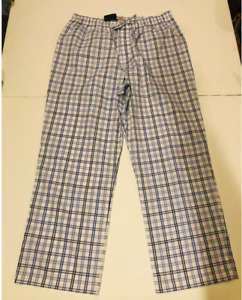 Brooks Brothers NWT Men's Blue Plaid PJ Pants Pajamas- Size XL- Ret $45