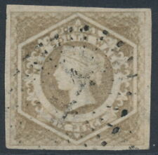 AUSTRALIA / NSW - 1859 6d brown Diadem, imperf., '8' watermark, used – SG # 96a