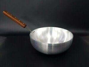 Aluminium Deep Biryani Pan with Wooden handle 26cm Restaurant Catering Kitchen