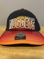 NBA Denver Nuggets Snapback Hardwood Classics Hat 47 Brand One Size Cap