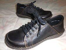 BORN CROWN D51003 ~Black PEBBLED LEATHER Lace-up Comfort OXFORD 6.5M