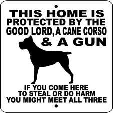 """Cane Corso Dog Sign,No Soliciting,9"""" x 9"""" Aluminum Sign,Guard,Warning,glccg9 x9"""