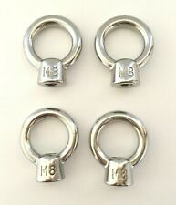 4pcs STAINLESS STEEL 8mm EYE NUT SHADE SAIL BOAT ROOF RACK BOLT NUT SS316