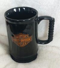 Harley Davidson Motorcycles Ceramic Mug Stein Biker black 3D/Embossed coffee mug