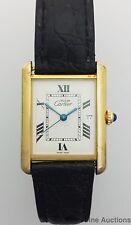 Genuine Cartier Tank 2413 Vermeil Mens Working Vintage Wrist Watch