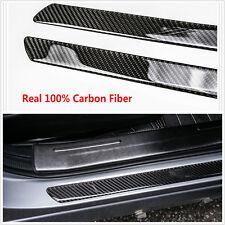 100%Carbon Fiber Car Scuff Plate Door Sill Cover Panel Step Protector Guard 60CM