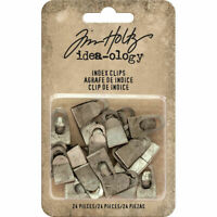 Tim Holtz Idea-ology INDEX CLIPS Fasteners TH93574 NEW