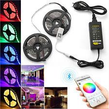 10M RGB 5050 SMD LED Stripe Leiste Streifen Band Bluetooth APP Fernbedienung 12V