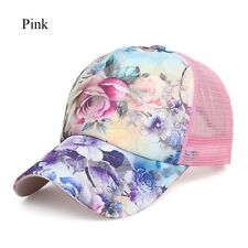 Women Ponytail Baseball Cap Mesh Sun Hats Snapback Baseball Cap Sports Caps