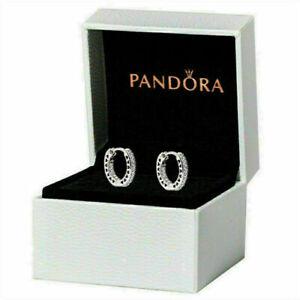 2021 Damen PANDORA Ohrringe Unendliche Herzen silber Ohrringe Mit Box heiß Gift