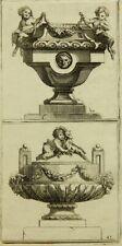 UNBEKANNTER KÜNSTLER (18.Jhd), Zwei Vasen oder Taufbecken,  1750, Radierung