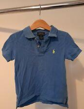Ralph Lauren Boys Age 2 Blue Logo Polo T Shirt
