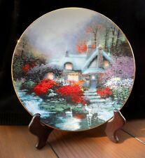 """Thomas Kinkade """"Swanbrook Cottage"""" Plate Thomashire Collection - Excellent!"""