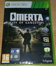 XBOX 360 gioco Omerta City of Gangsters italiano nuovo sigillato