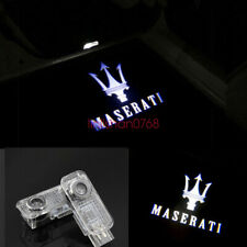 2x LED Door Light Projector Welcome NEW Logo HD For Maserati Levante 2017-2018