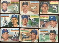 1956 Topps Baseball Card Lot All Hall of Famers 9 Different