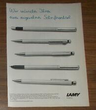 Seltene Werbung LAMY CP1 Füllhalter Druckbleistift Kugelschreiber 1981