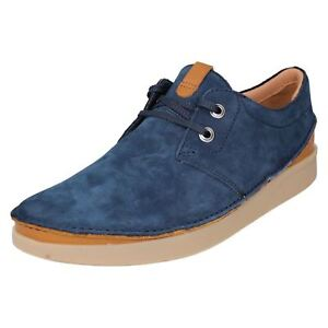 MENS CLARKS OAKLAND LACE LEATHER LACE UP SMART CASUAL SHOES COMFORTABLE SIZE