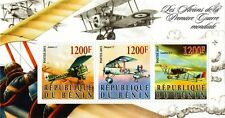 The Aircraft of the First World War (WWI) Airplane Stamp Sheet (2015 Benin)