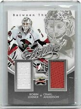 CRAIG ANDERSON,& ROBIN LEHNER 2012 BETWEEN THE PIPES ASPIRE GAME WORN JERSEYS