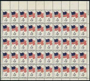 US Stamp - 1960 50 Star Flag - 50 Stamp Sheet - Scott #1153