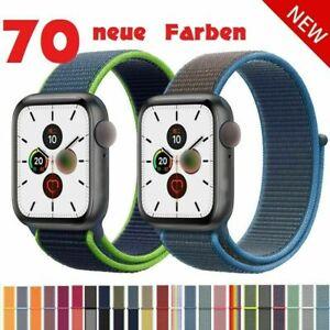 Für Apple watch 38 40 42 44 Nylon Sport Armband Band iwatch Serie 1-6 SE Ersatz