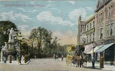 FIVE WAYS WITH MEMORIAL AND HORSE-PULLED OMNIBUS, BIRMINGHAM : POSTCARD (1906)