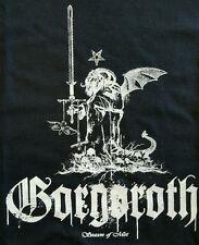 GORGOROTH BLACK METAL BLACK CANVAS BACK PATCH