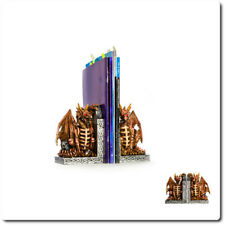 Bone Dragon With Skull Bookends