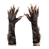 Deluxe Brown WereWolf Gloves Hands Claws Adult Halloween Costume Paws