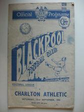 Division 1 Blackpool Teams A-B Football Programmes