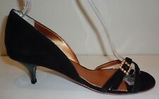 Espace Size 9 M VENUS Black Suede Kitten Heels Sandals New Womens Shoes